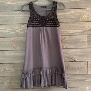 Gray Ruffle Dress from Europe